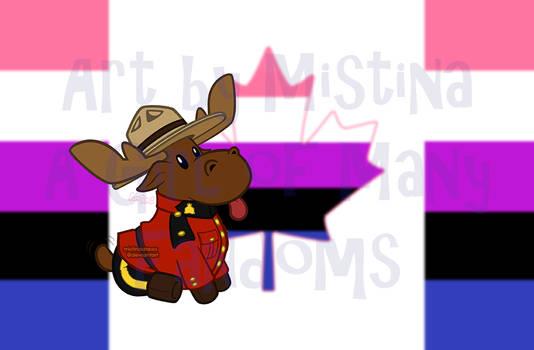 Mountie Moose: PRIDE REMIX! (#07 Genderfluid)
