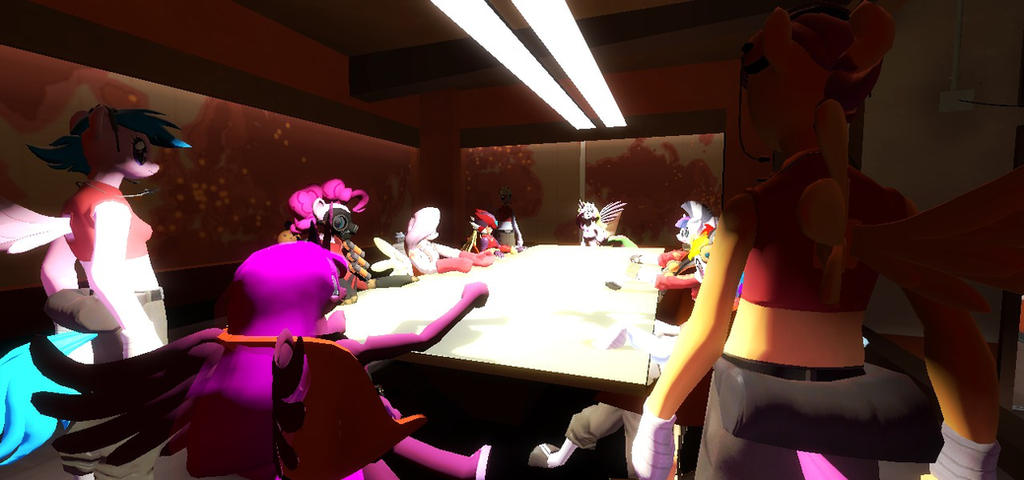 Boardroom meeting in the red base by BlakeandAlex12