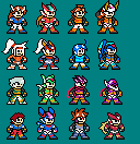 8 bit sprites for Megaman Zx by BlakeandAlex12