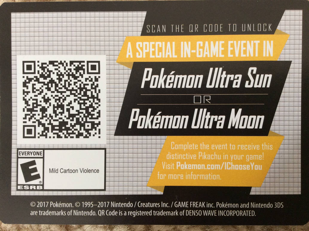 Pikachu Qr Code Ultra Sun