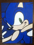 Sonic the Hedgehog painting