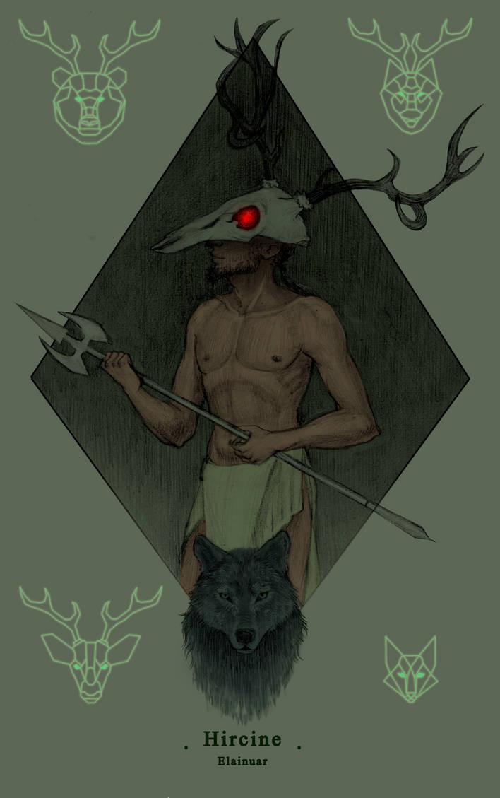 Hircine - Daedric Princes series by Elainuar