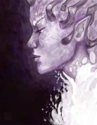 Violet Demoness by Elainuar