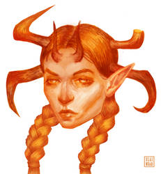 Orange Demoness by Elainuar