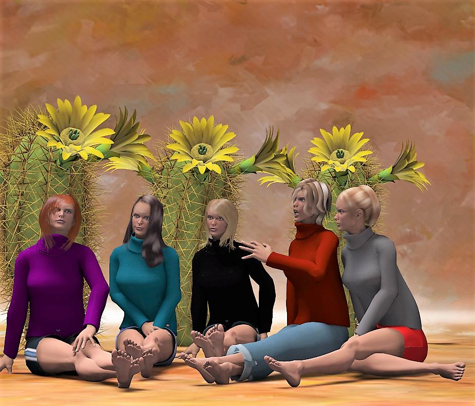 Five Fair Pairs of Feet by Eidolon1