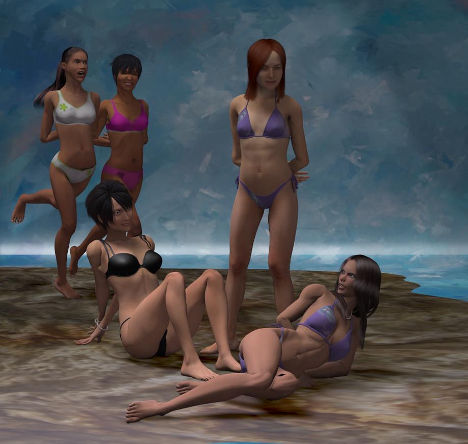 Beachgirls bound to have fun by Eidolon1