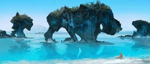 Marble Caves by LennartVerhoeff