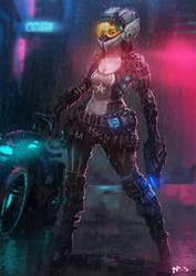 Scifi-cop Girl Thing by LennartVerhoeff