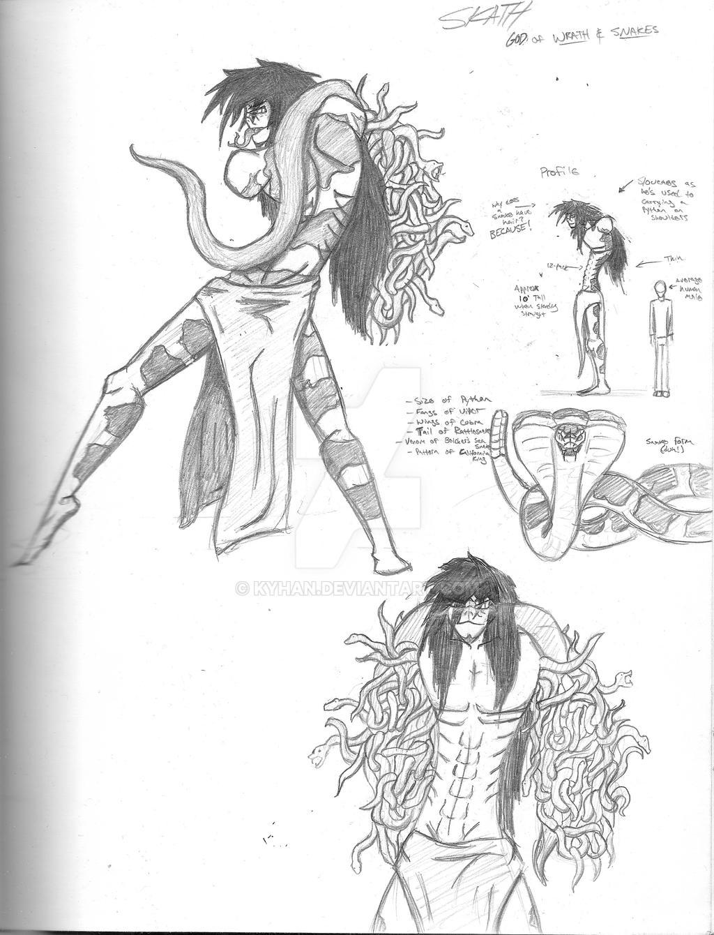 Skath, Enderan God of Snakes and Wrath