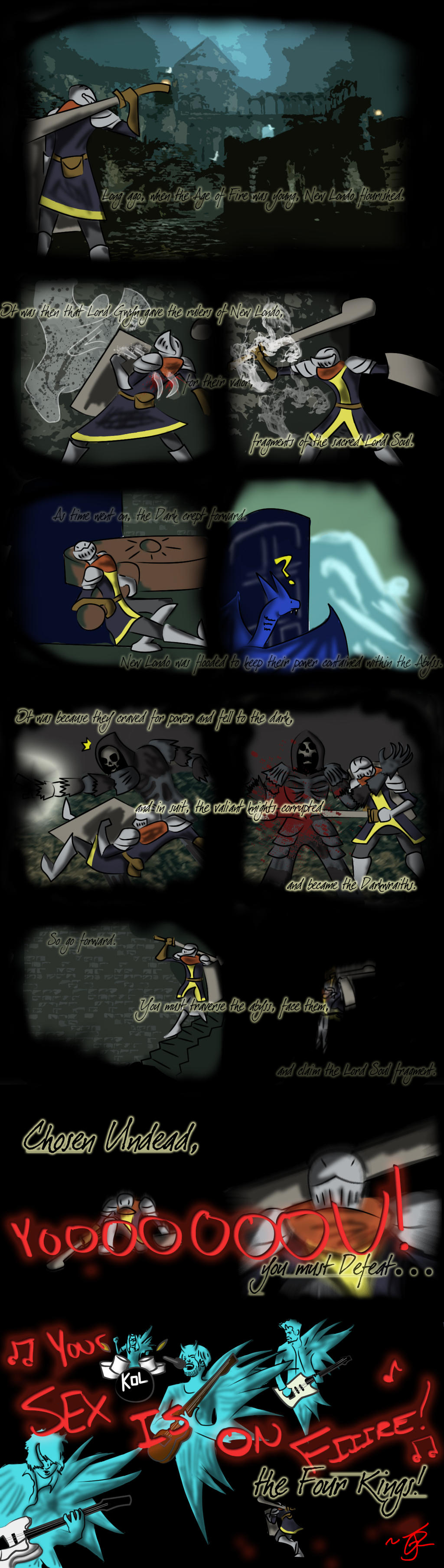 Dark Souls - The Four Kings