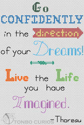 Dreams quote cross stitch preview