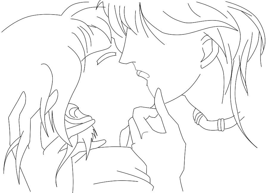 Line Art Kiss : Kiss me line art by soraxriku on deviantart