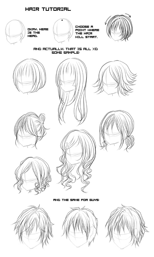 Hair Tutorial by Fuugen on DeviantArt