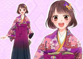 Meiji era schoolgirl by Fuugen