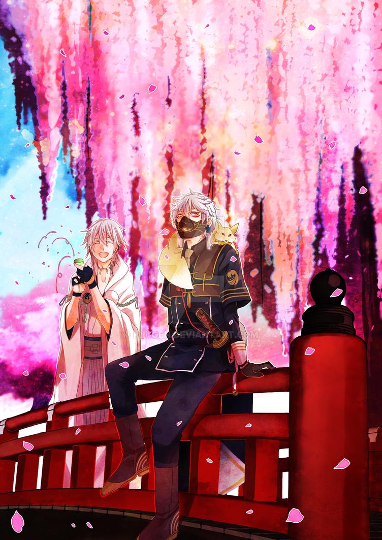Nakigitsune and Tsurumaru by Fuugen