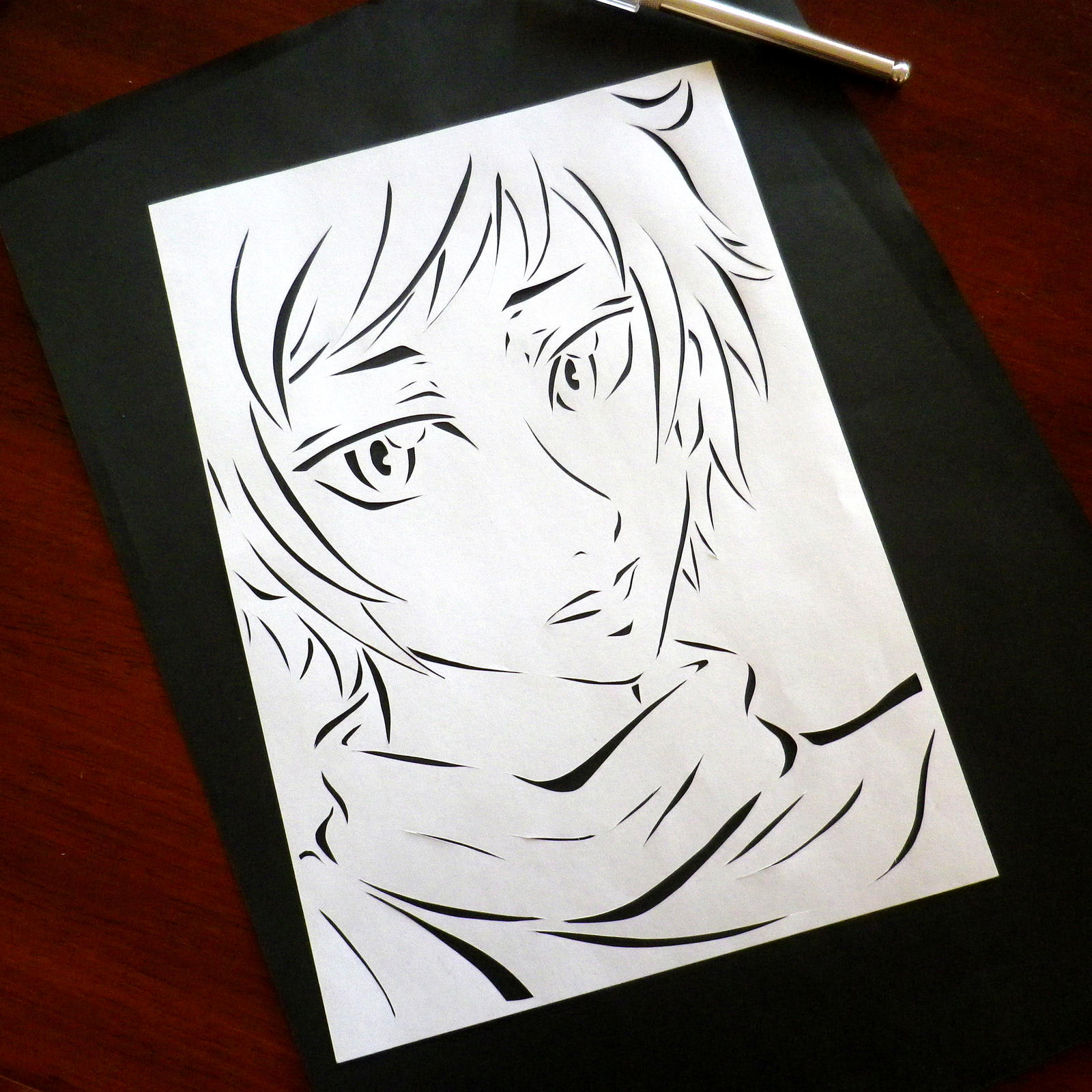 Anime Paper Cut Out Stencil By Jadziah On DeviantArt