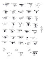 Manga eyes by Itzia
