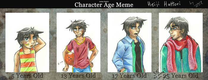 Character Age Meme: Heiji Hattori