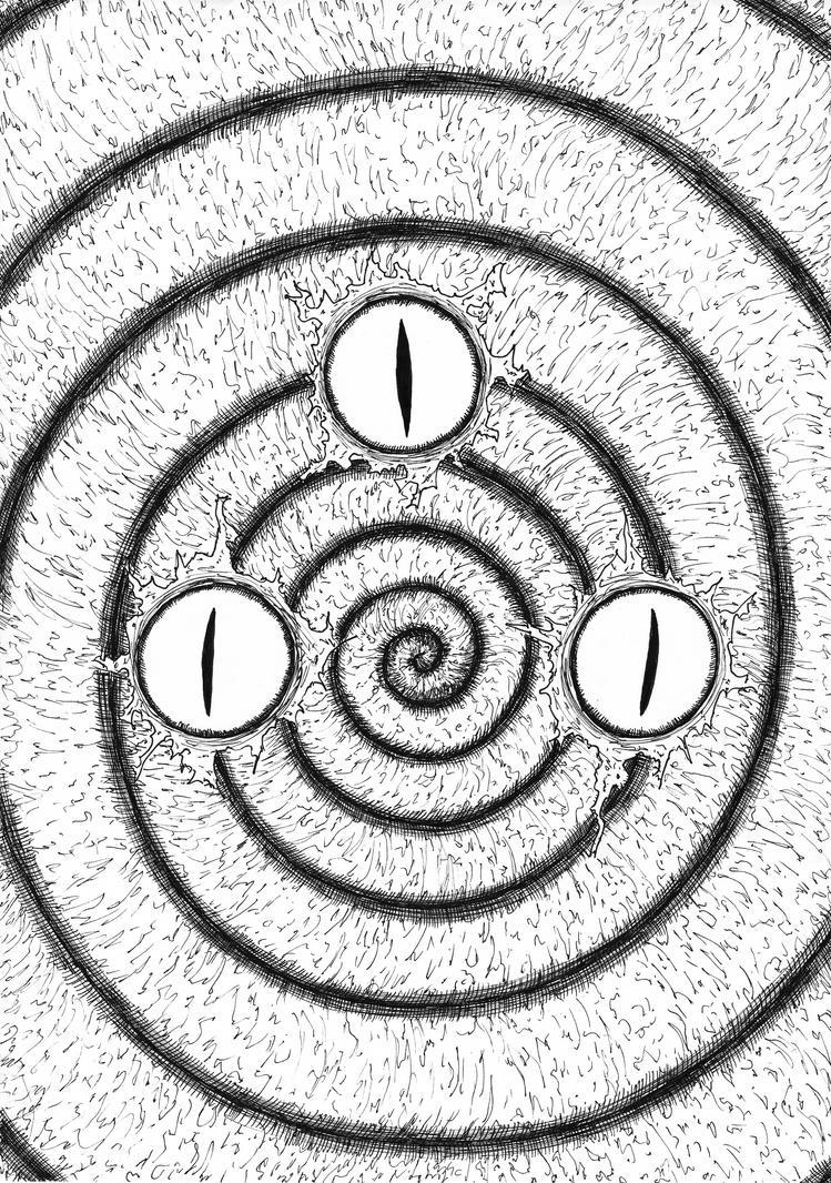 -En un pueblo y sus espirales- portada by D-KenSama78
