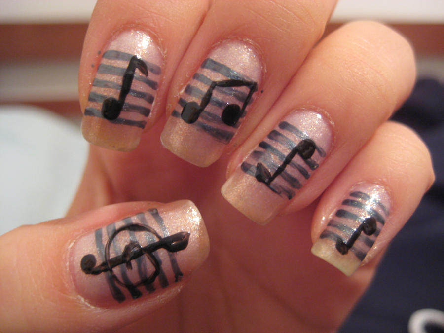 Cute music nail designs new funny cute nail art images pictures cute music note nail art view images prinsesfo Image collections