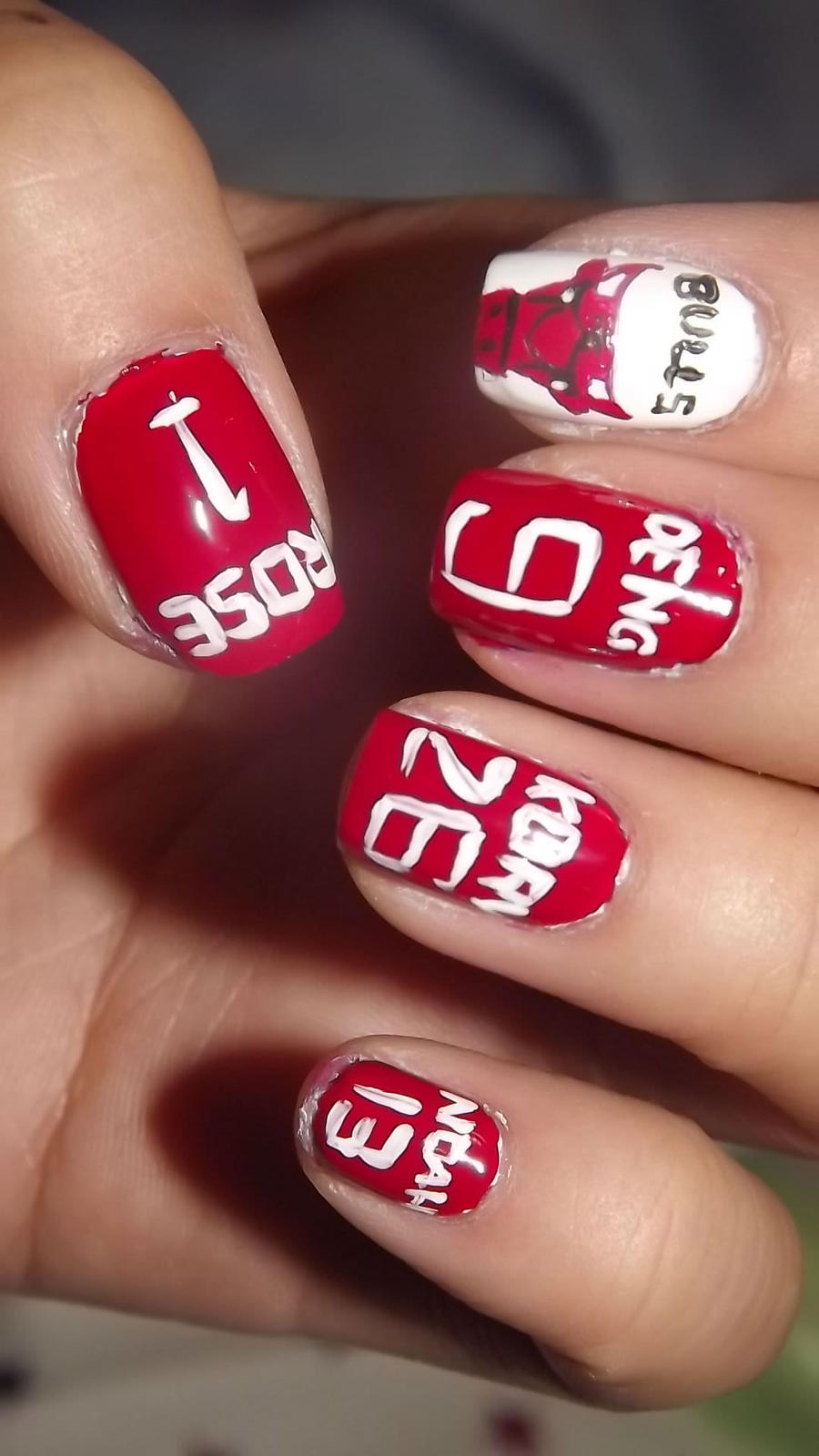 Chicago Bulls Nails by xsheervanilla on DeviantArt