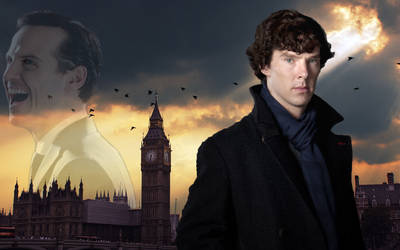 Sherlock and Moriarty by Takhisys