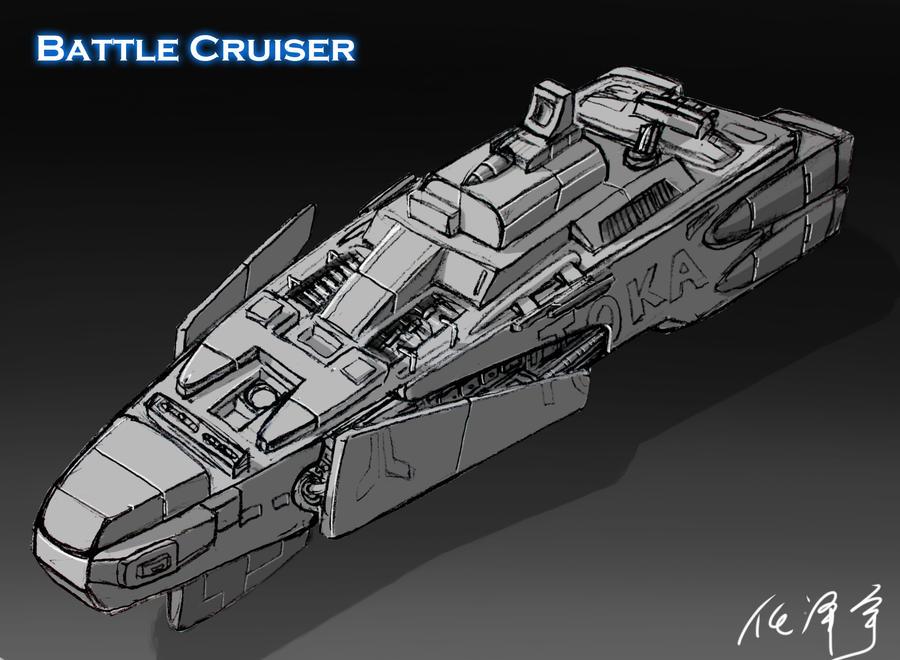 Battle Cruiser. Concept Design by RenZeyu