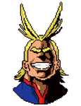 All-Might Pixel Art Head (Boku no Hero Academia)