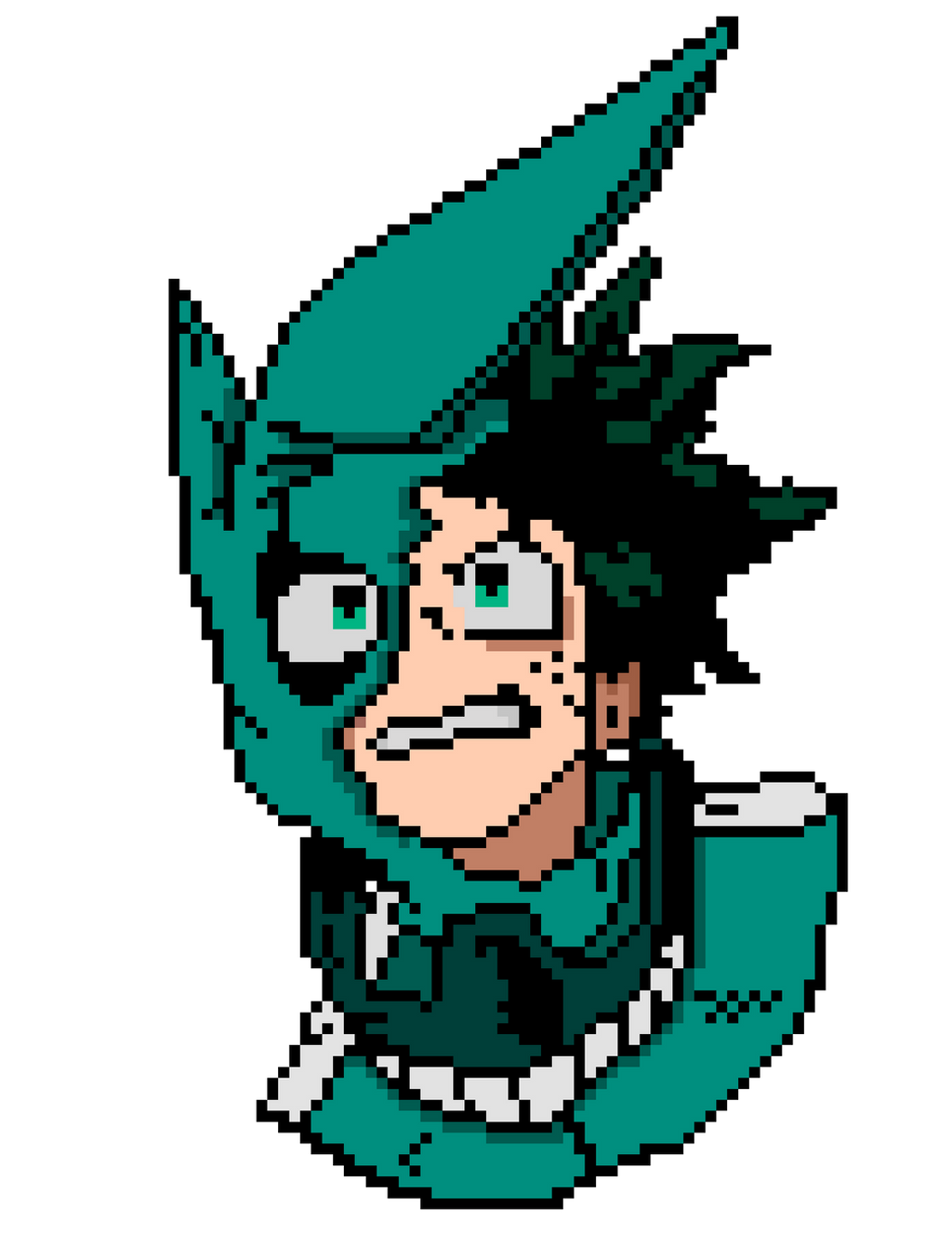 Izuku Midoriya Pixel Art (my hero academia) by nezz94