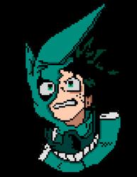 Izuku Midoriya Pixel Art (my hero academia)