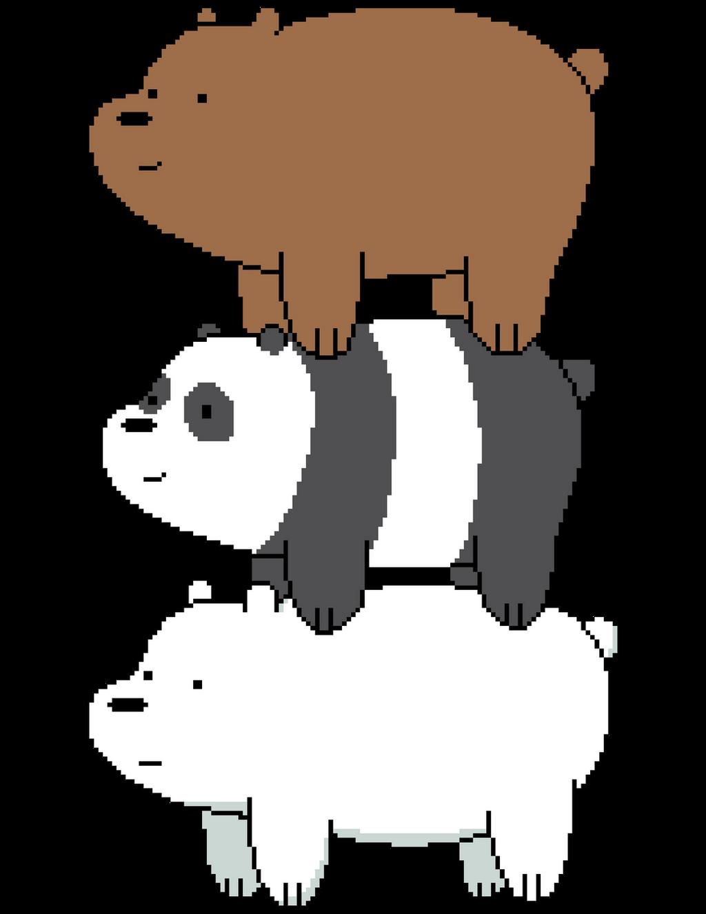 We Bare Bears Pixel Art By Nezz94 On Deviantart