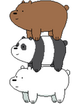 We bare bears Pixel art