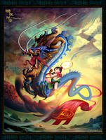 Nezha Conquer the DragonKing by naughtyboy1982