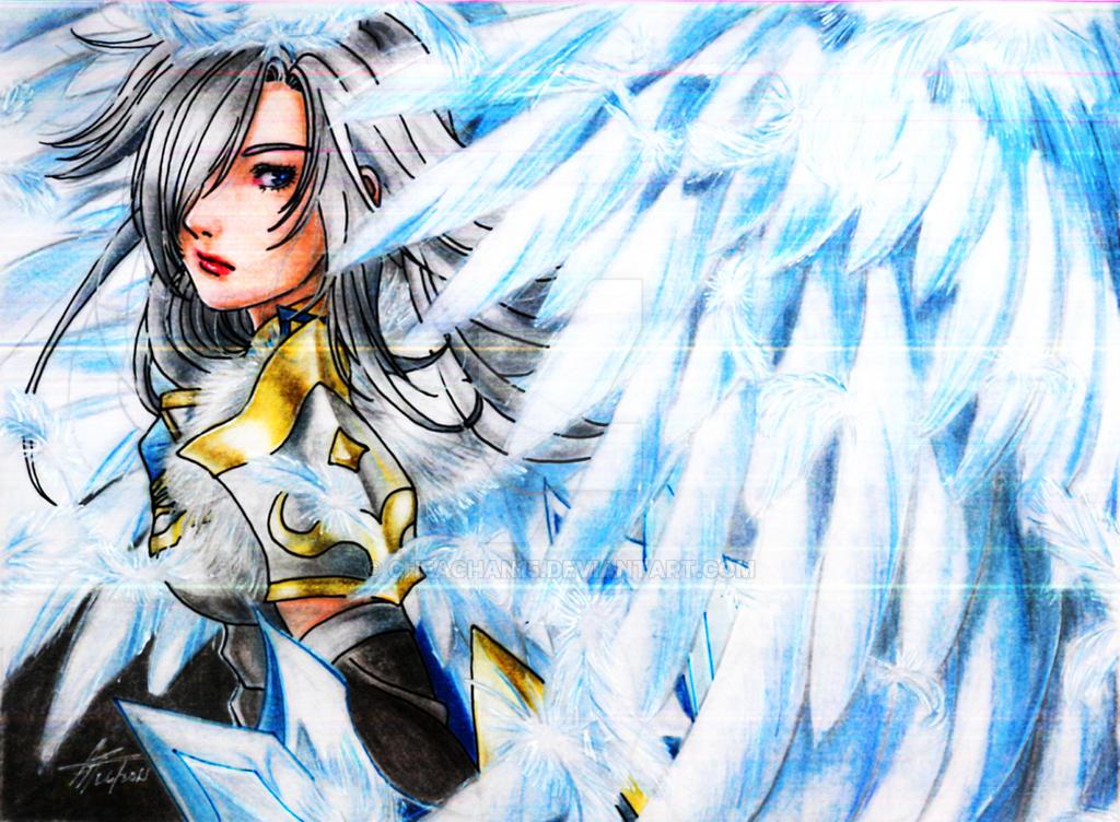 Angelic Blades Sefia by cheachan15