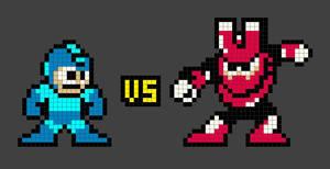 Megaman VS Magnetman by Yaku-Zan