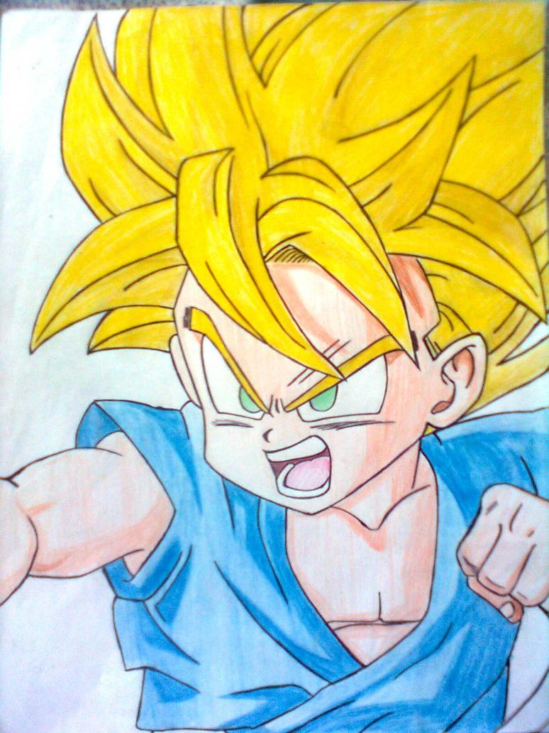 Kid Goku - Super Saiyan by kokomirai on DeviantArt