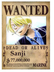 Sanji's new wanted poster by tish246