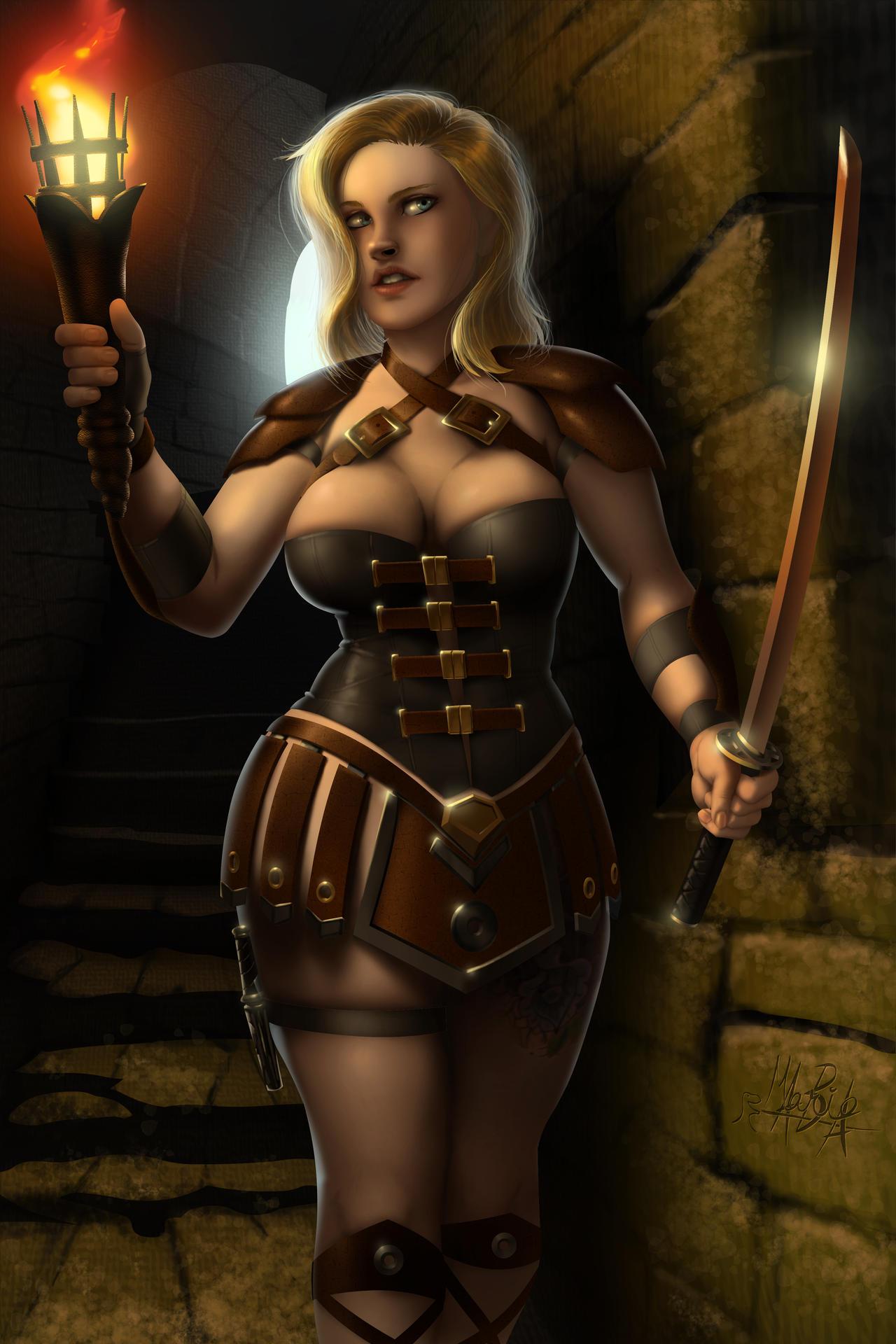 Female Treasure Hunter
