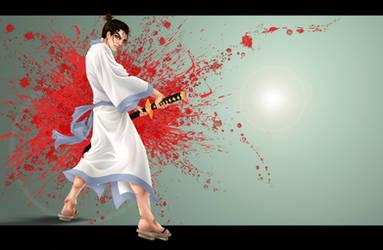 Samurai Wallpaper by Paranoid-Duckkie