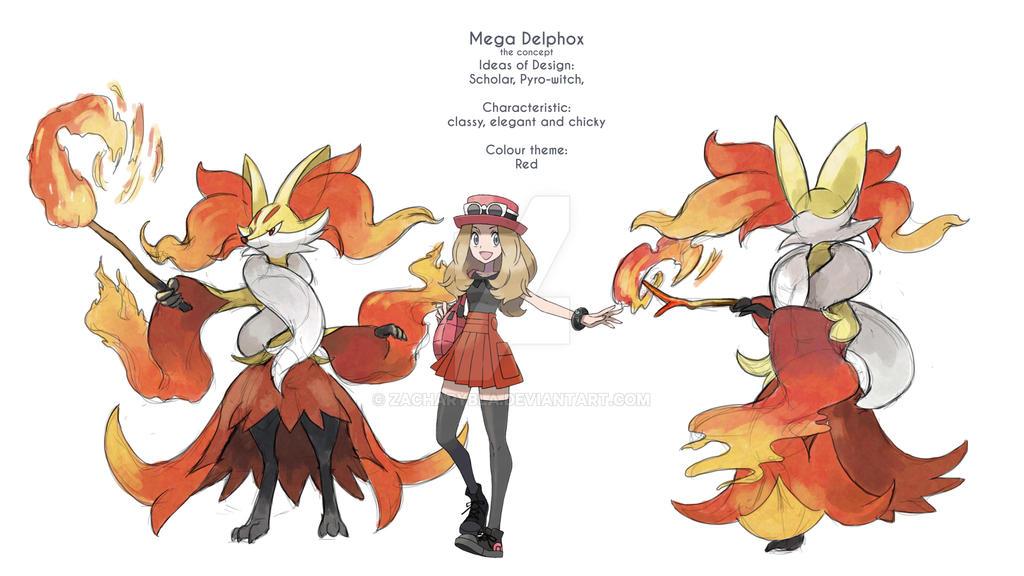 Mega Delphox by zacharybla on DeviantArt