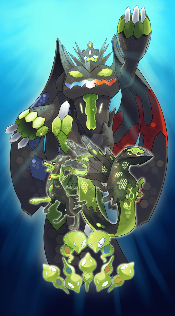 Zygarde All Forms By Zacharybla On Deviantart