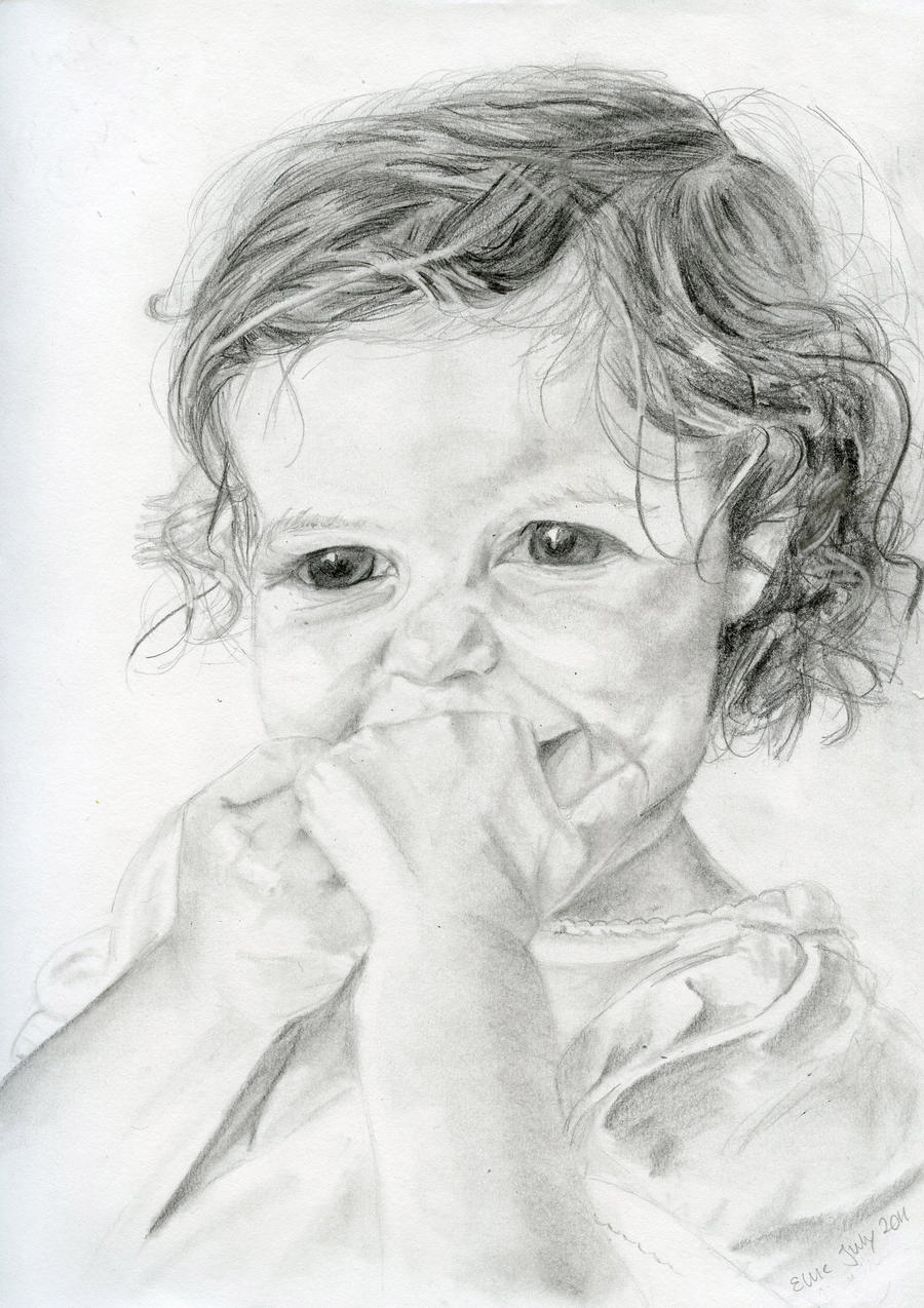 Little angel pencil drawing by mkmarspencil drawings of angels