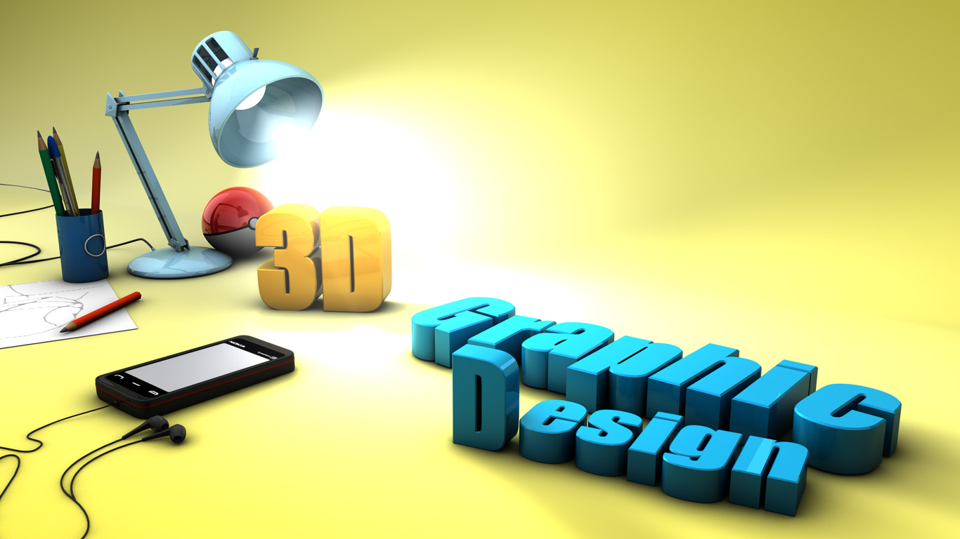 Graphics 3d graphic design 3d design