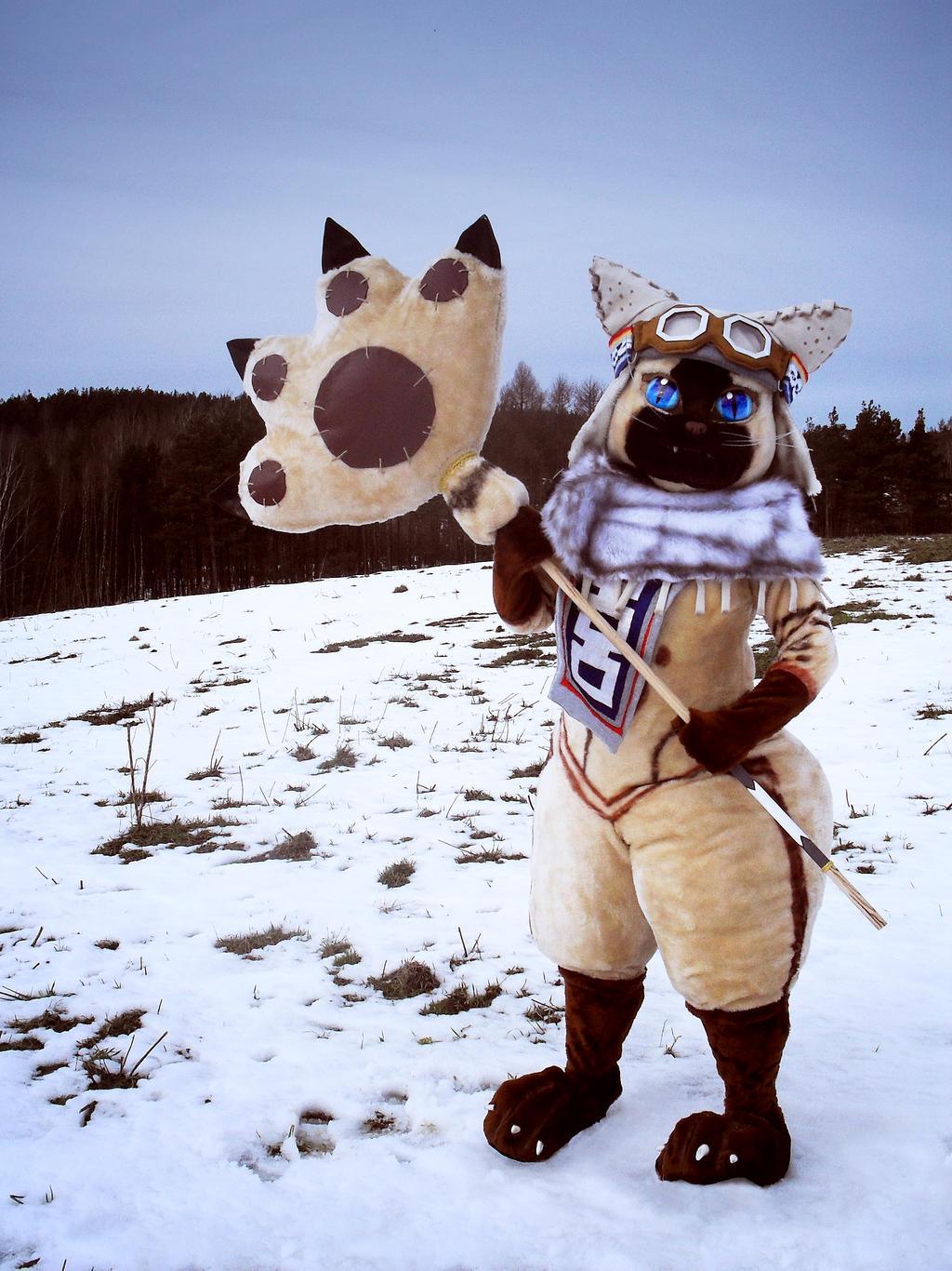 Winter hunter by polkajolka