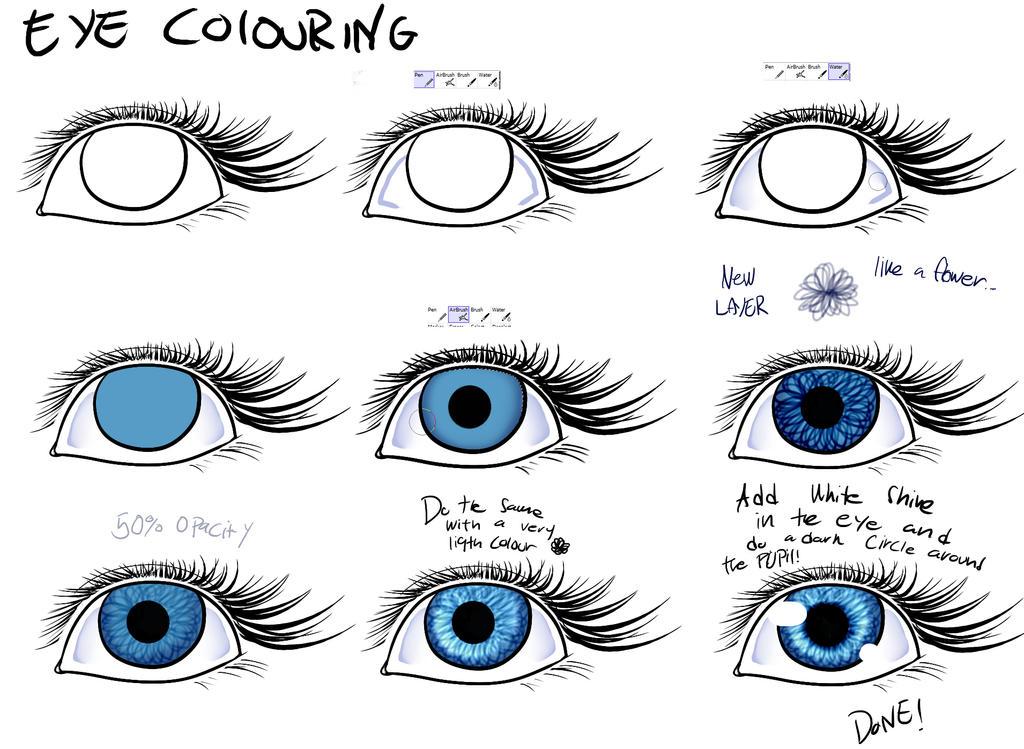 Easy way to colour eyes - EASY PAINT TOOL SAI by Poka-SorM on ...
