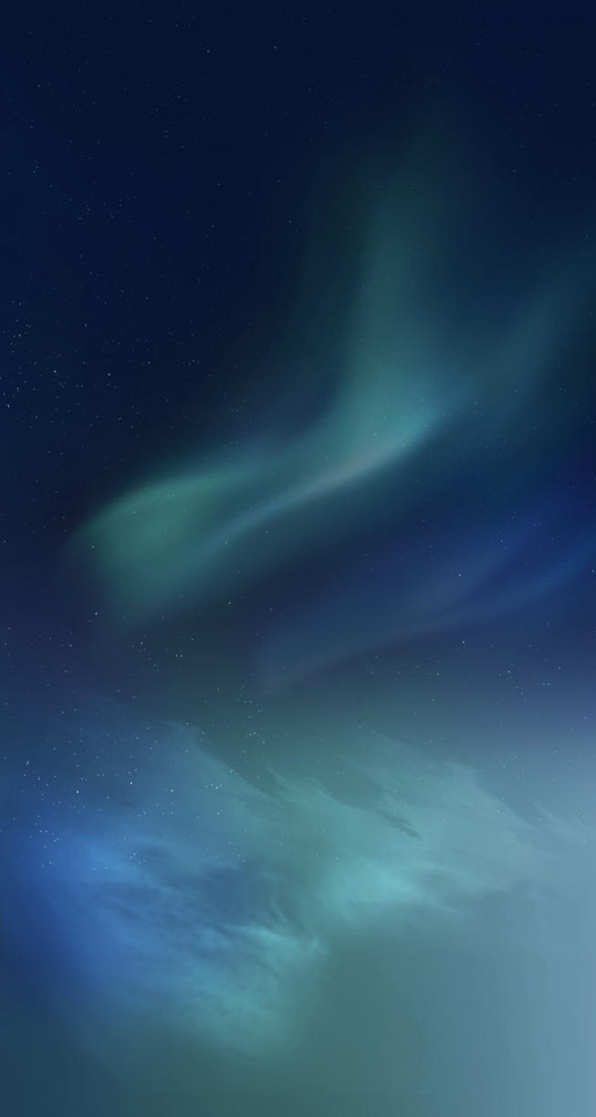 iphone wallpaper northern lights green poison