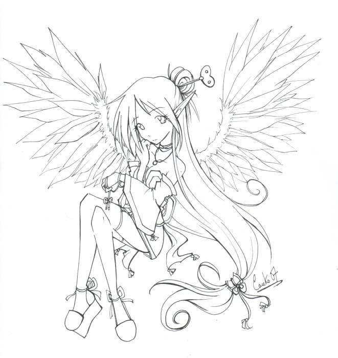 coloring pages of fallen angels - photo#22