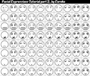 Facial Expression Tut 3 by careko