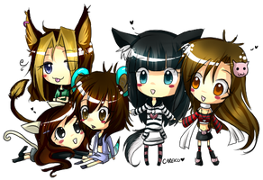 Mlovex: 5 girls by careko