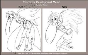Character development meme by careko